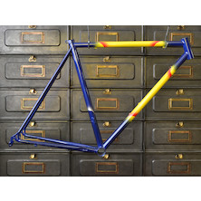 SAB Vintage Steel Road Frame NOS (53.5cm, Blue and yellow)