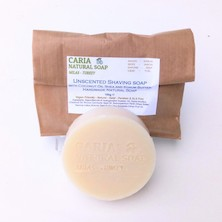 Caria Natural Unscented with Coconut, Shea And Kokum Shaving Soap Bar