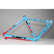 Planet X Pro Carbon XLS Cyclo Cross Frame / 51cm / Sky / Red / Masking Issue