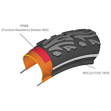 Areo City Wired Tyre Puncture Proof With Reflective Stripe