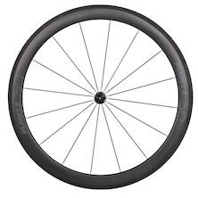 Planet X Carbon Tubular 50mm Rim Stealth Logo On Planet X Pro Hub Handbuilt Front Wheel