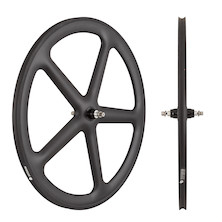 Planet X Five Spoke Carbon Aero Track Front Wheel