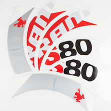 SRAM S80 Decal Set For (1 Wheel) Red/White