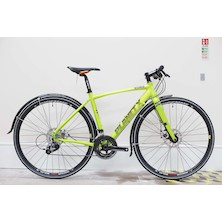 Planet X London Road Flat Bar Bike Sram Rival 11 Speed Road Bike Small  Zesty Lime