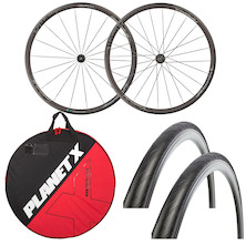 Deluxe FSA Team 30 Comp 700c Road Wheelset, Wheelbag And Tyres Bundle
