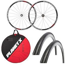 Deluxe Gipiemme Tecno 020 700c Road Wheelset , Wheelbag And Tyres Bundle