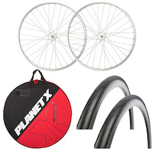 Deluxe Holdsworth Gran Sport 700c Fixed Wheelset, Wheelbag And Tyres Bundle