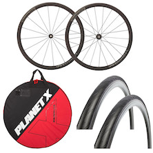 Deluxe Vision Team 35 Wheelset , Wheelbag And Tyres Bundle