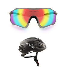 Free Carnac Equipe Red Revo Glasses With Carnac Notus Race Helmets