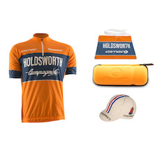 HoldsworthI Team Club Jersey, Musette, Cap And Bottle Cage Tool Bag Bundle