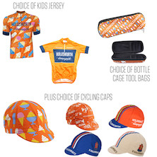 Holdsworth Kids Short Sleeve Jersey, Cap And Bottle Cage Tool Bag Bundle