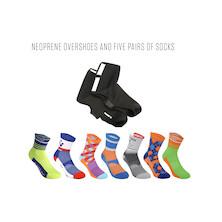 Overshoes And 5 Pairs Of Sorbtek Socks Bundle