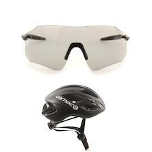 Carnac Equipe Photochromic Glasses With Carnac Notus Race Helmet