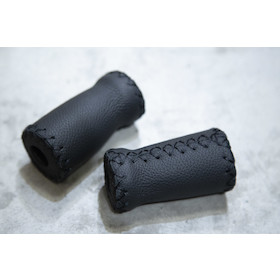 San Marco Flat Leather Handlebar Grip LUC.NERA 70MM (SINGOLO L