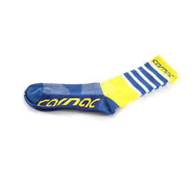 Carnac Coolmax Yellow Blue & White Socks