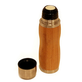 PODSACS Bamboo Thermos Flask