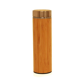 PODSCAS Bamboo Thermos With Tea Infuser