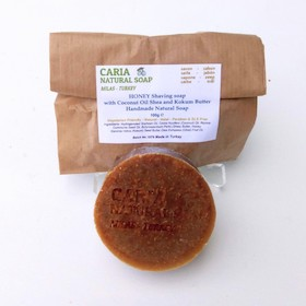 Caria Natural Honey With Coconut And Kokum Butter Shaving Soap Bar