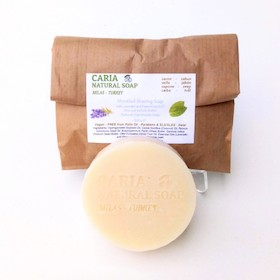 Caria Natural Menthol Peppermint And Lavender Shaving Soap Bar
