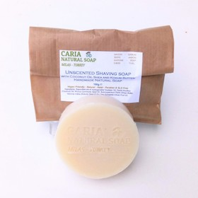 Caria Natural Unscented with Coconut Shea And Kokum Shaving Soap Bar
