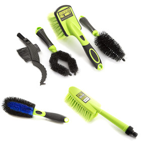 Jobsworth Full Monty 6 Piece Bike Cleaning Brush Set