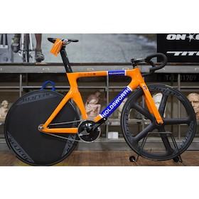 Holdsworth Roi De Velo Carbon Track Bike X Large Orange Ex-Team Bike 49t/15t