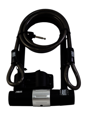 Jobsworth Be Reet BMF U Lock 180mm X 260mm With Cable | Combo Lock