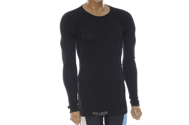 Red Level Long Sleeved Carbon Base Layer