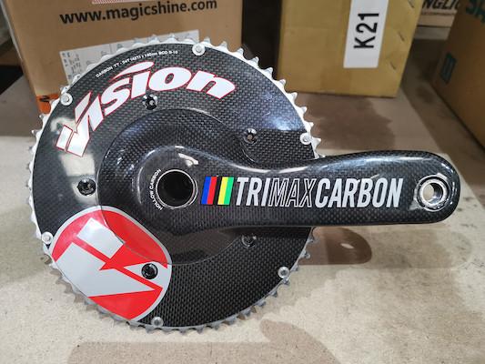 FSA Vision Trimax Carbon TT Crankset Incl Megaexo BB / 54/42 / 177.5mm (Used) | Crankset