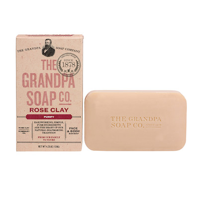 The Grandpa Soap Co Rose Clay Soap Bar | polish_and_lubricant_component