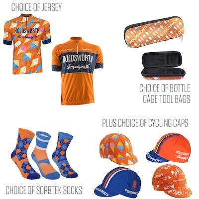 Holdsworth Short Sleeve Jersey, Socks, Cap And Bottle Cage Tool Bag Bundle