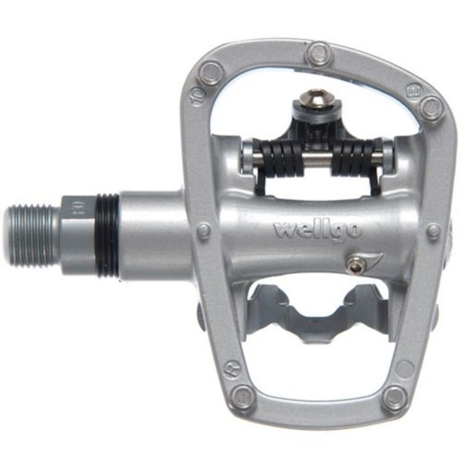 Come With Cleat Set Wellgo R120B Sealed Bearing Road Bike Pedal Silver