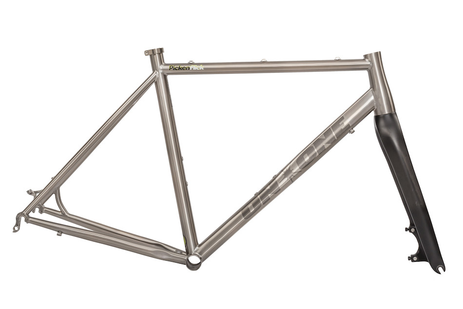 on one ti pickenflick cyclocross frameset with selcof cyclocross fork