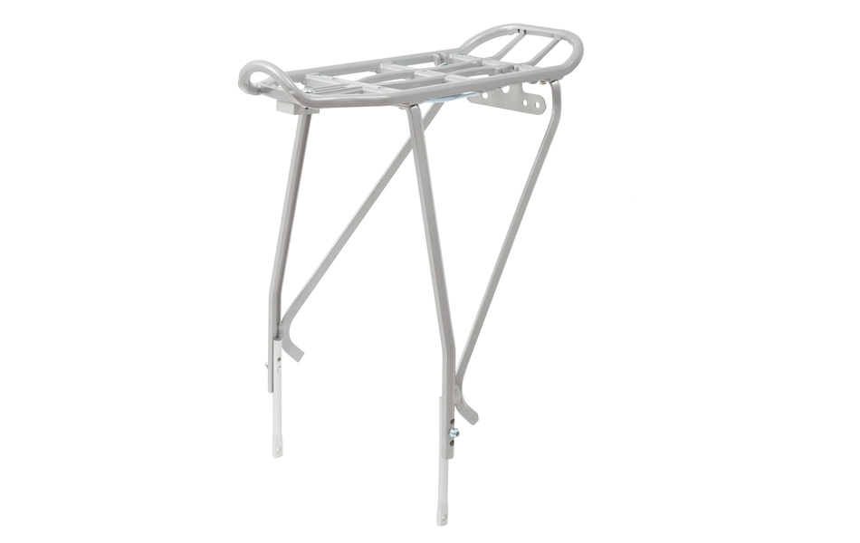 Jobsworth Disc Brake Compatible Adjustable Pannier Rack / Silver