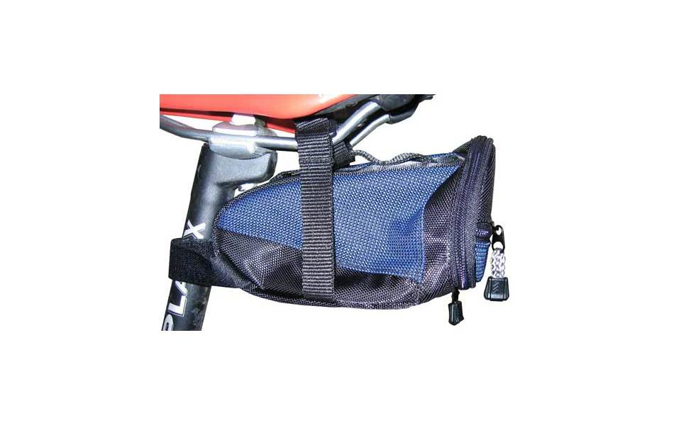 Planet X Large Saddle Bag with Zip Pocket