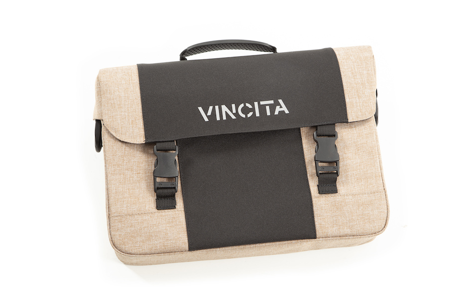 Vincita Mens Single Shoulder Strap Pannier Bag With Handle And Concealable Clip-On System