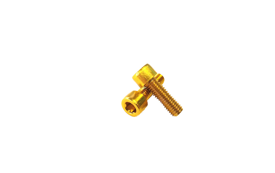 Alloy 7075 Bottle Cage Bolt Kit M5 X 16mm (Pair) / Gold