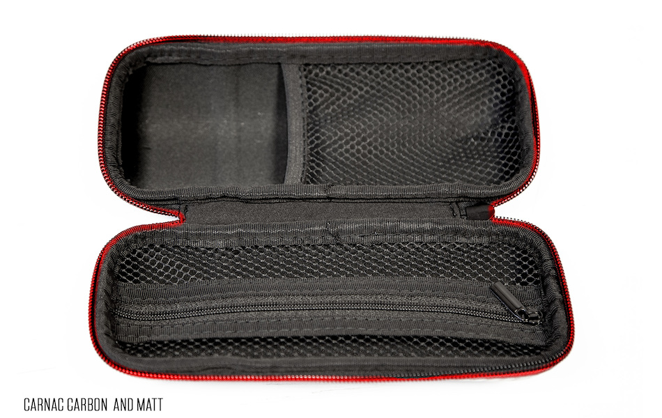 Carnac EVA Tool Bottle Cage Tool Case / Carbon (1 Mesh + 1 Zip Pocket)