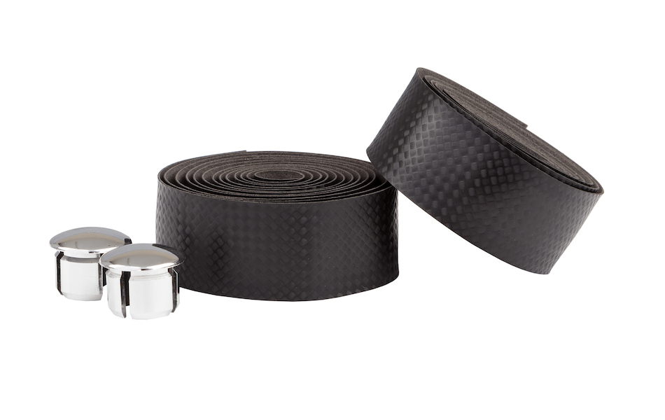 Ambrosio Bike Ribbon Handlebar Tape / Carbon Look / Black