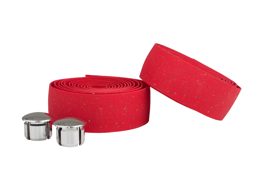 Ambrosio Bike Ribbon Handlebar Tape / Cork / Red