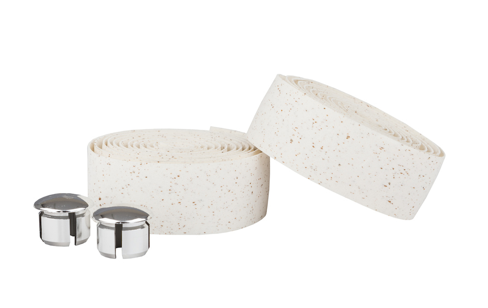 Ambrosio Bike Ribbon Handlebar Tape / Cork / White