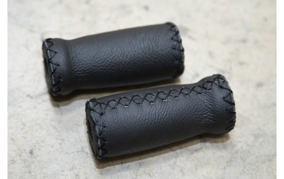 San Marco Flat Leather Handlebar Grip