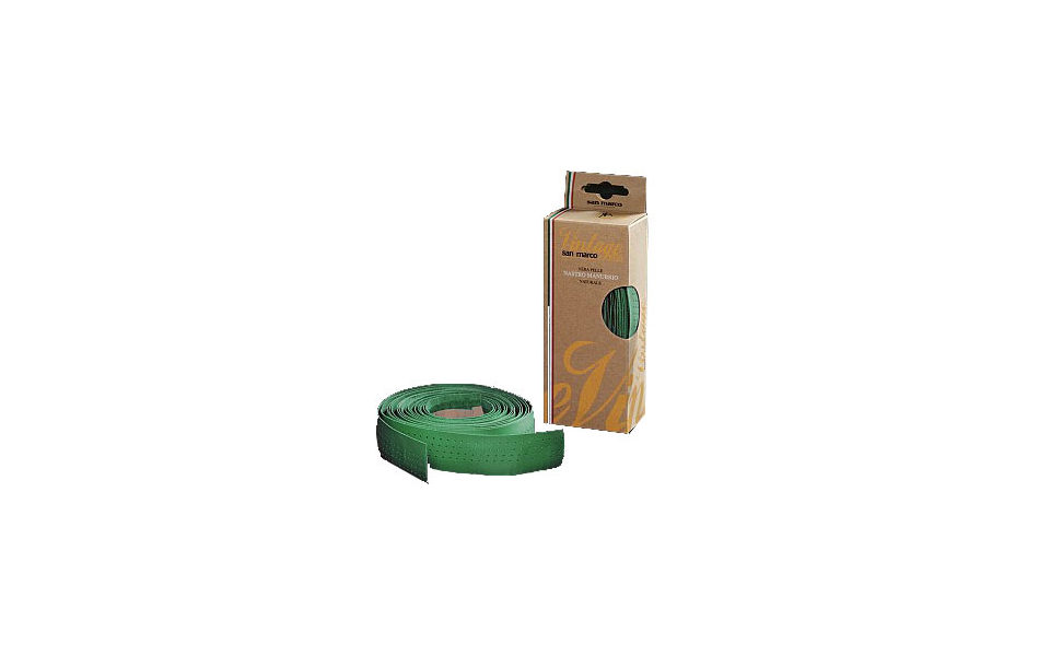 San Marco Vintage Leather Bar Tape / Green