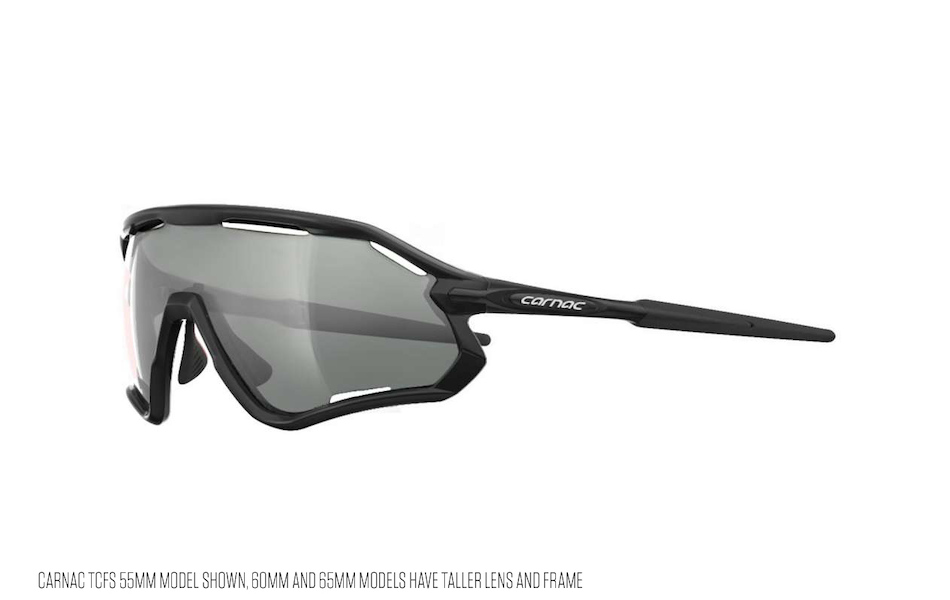 Carnac TCFS 65 Sunglasses / Gloss Black / Silver Mirror
