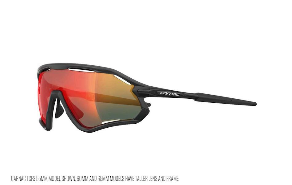 Carnac TCFS 65 Sunglasses / Matt Black / Red Revo