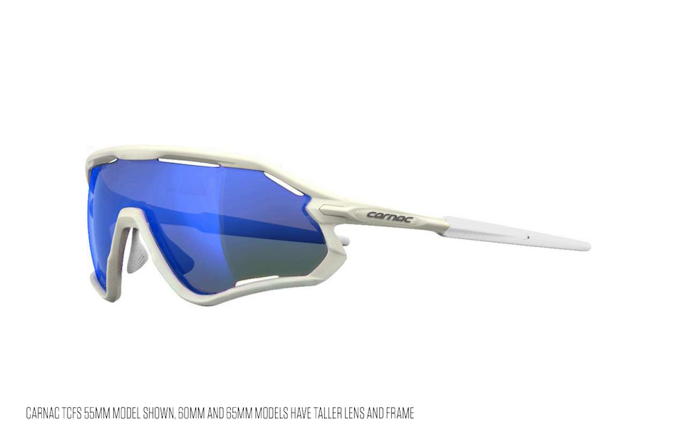 Carnac TCFS 65 Sunglasses / Matt White / Blue Revo