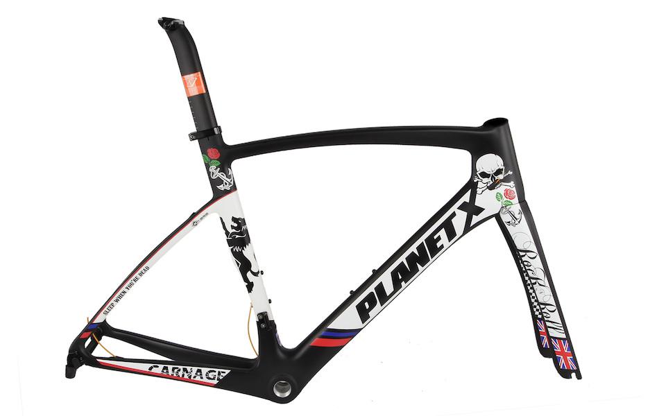 Planet X EC130E Shimano Ultegra 6800 Aero Road Bike Sleep When You're Dead Edition