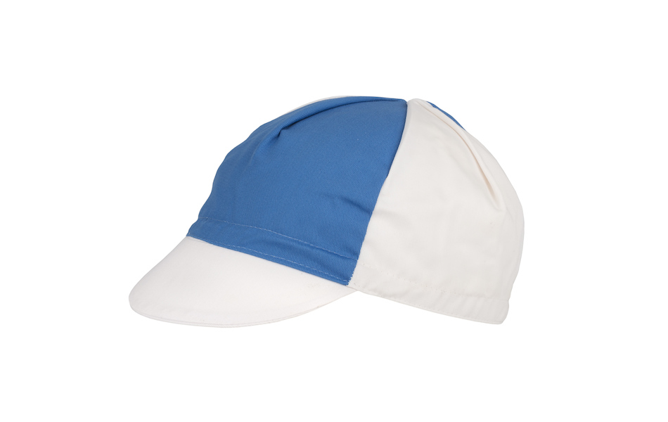 Apis Cotton Cycling Cap / One Size / White and Blue