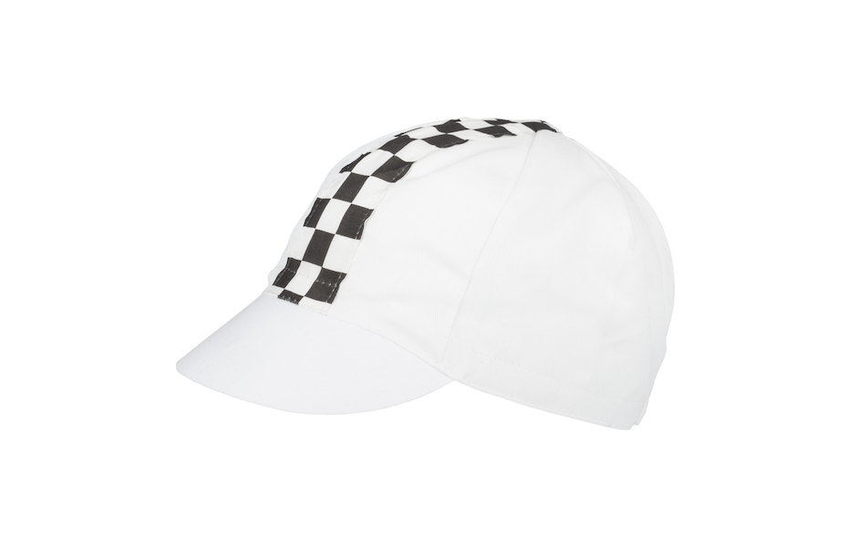 Apis Cotton Cycling Cap / One Size / White and Chequered