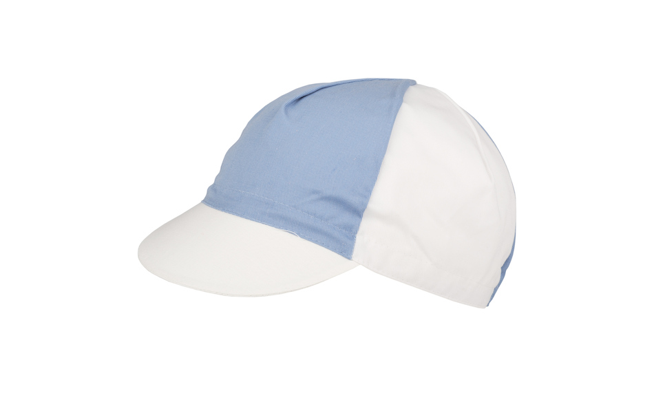 Apis Cotton Cycling Cap / One Size / White and Light Blue